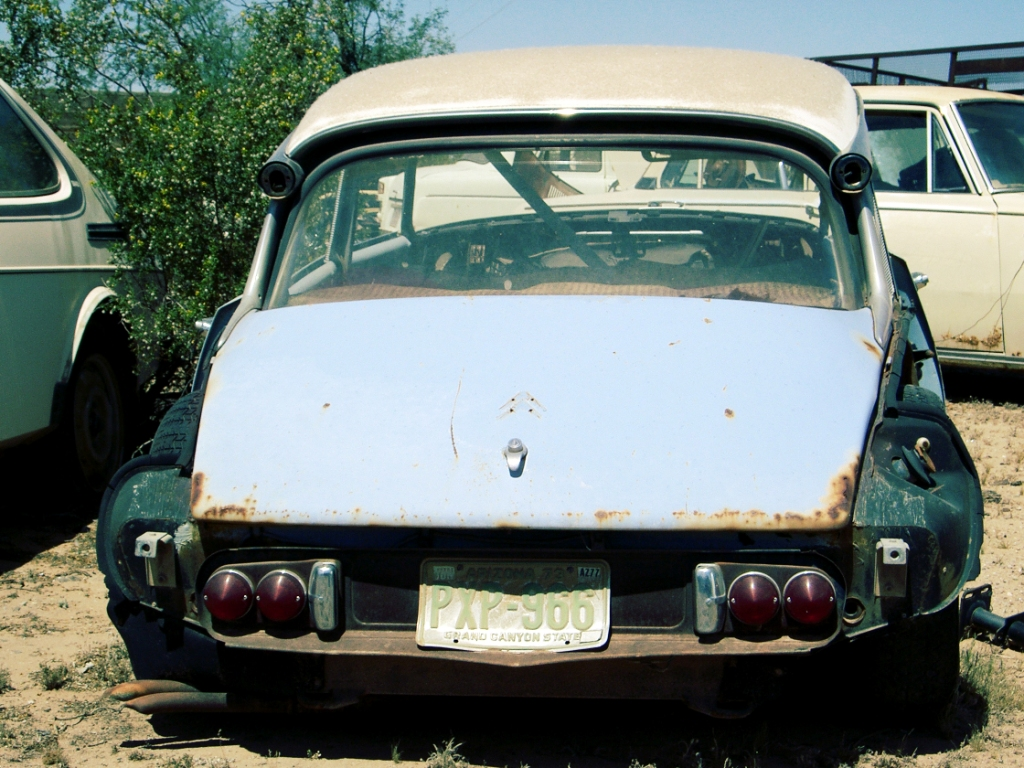 Citroen DS in Maricopa, New Mexico, USA. Fotoquelle: sleeping-beauties.de