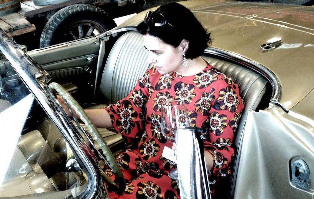 Anne Krebiehl (MW) im Chevrolet Corvette C1